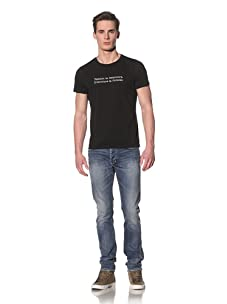 Tee Library Men's Fashion & Literature Crew Neck T-Shirt (Black)