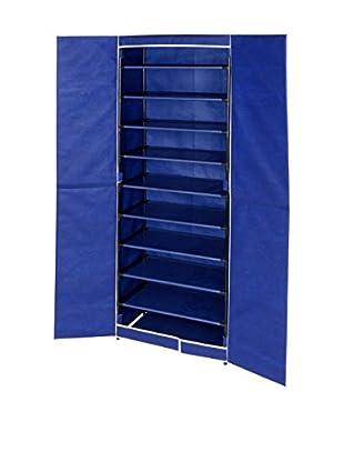Wenko Schuhschrank 2er Set blau/schwarz one size