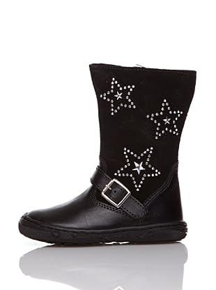 Billowy Botas Estrellas (Negro)