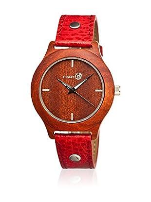 Earth Watch Uhr mit Japanischem Quarzuhrwerk Tannins rot 41 mm