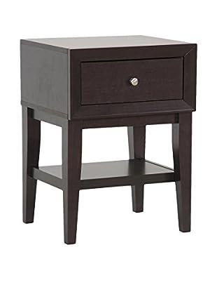 Baxton Studio Gaston Accent Table/Nightstand, Dark Brown