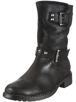 Buffalo London 1004 W 01 ROCK MONTONE 121245 - Botas de cuero para mujer (Negro)
