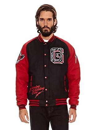 Grimey Wear Chaqueta de Lana Crew (Negro / Rojo)