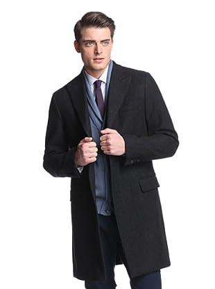 Dolce & Gabbana Men's Herringbone Coat (Grey)