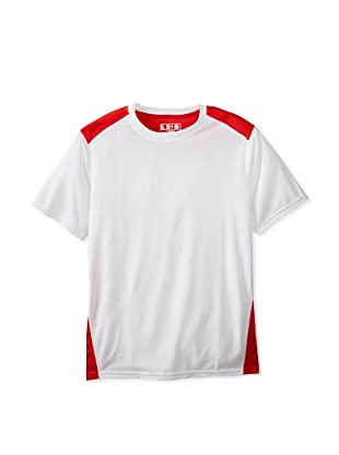 New Balance Men's Go 2 Short Sleeve Top (White/Velocity Red)