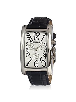 Breed Men's BRD1003 Gatsby Black/Silver Leather Watch