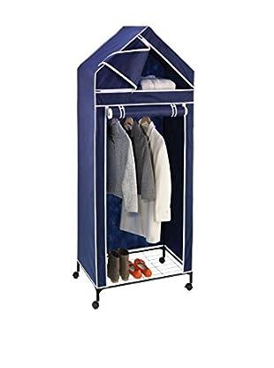 Honey-Can-Do Extra-Tall Top-Shelf Storage Closet, Blue