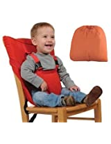 Portable Baby Safety Chair/ High Chair Harness Seat Belt - Orange