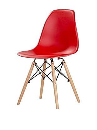 kitchen Furniture Set Silla 4 Uds. Rojo