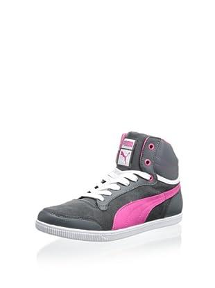 PUMA Women's Glyde Court Sneaker (Dark Shadow/Cabaret)