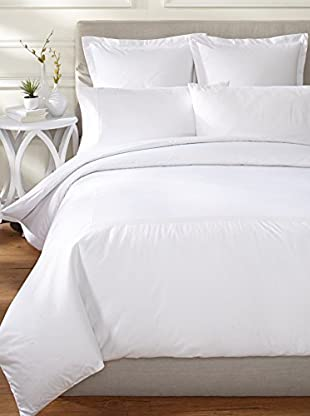 Downright Windsor Braid 400 TC Sateen Embroidered Duvet Cover (White)