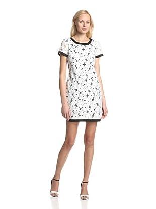Donna Morgan Women's Lace Shift Dress (White/Black)