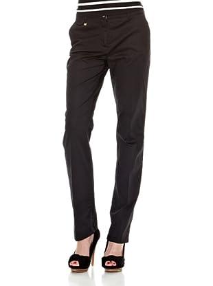 Cortefiel Pantalón Básico Largo Alg Sate T9 (Negro)