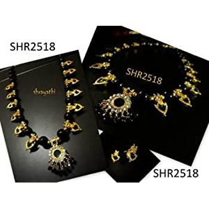 Necklace sets - Black palakka necklace and earring