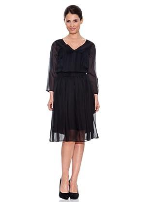 Caramelo Vestido Corto (Negro)