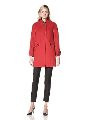 W118 by Walter Baker Outerwear Women's Nicky Wool Coat (Red)
