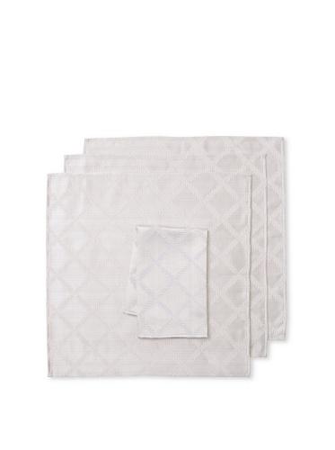 Lenox Set of 4 Laurel Leaf Napkins (Platinum)