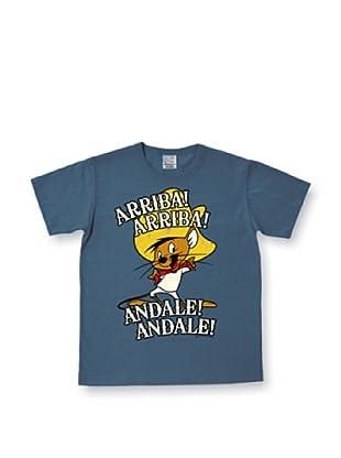 Logoshirt Camiseta Easyfit Looney Tunes Arriba! yale! (Azul Grisáceo)