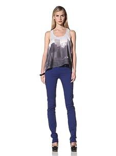 David Kahn Women's Niki Straight Leg Jean (Ultra Blue)