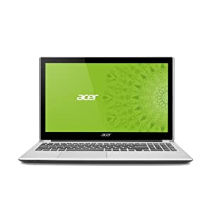 Acer Aspire V5-571P-6698 15.6-Inch Touchscreen Laptop (1.5 GHz Intel Core i3-2377M Processor, 8GB DDR3, 750GB HDD, Windows 8) Silky Silver