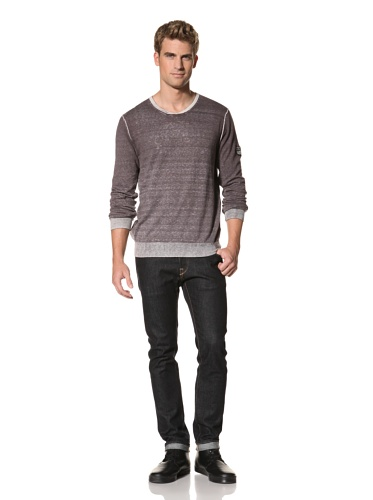 MNRKY Men's V-Neck Sweater (Steel Grey)