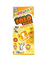 Colour & Clean Solo Pack Animals