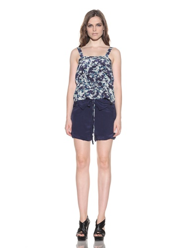 under.ligne by Doo.Ri Women's Floral Layered Tank (Navy/White)