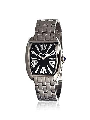 Bertha Women's BR1302 Anastasia Silver/Black Stainless Steel Watch