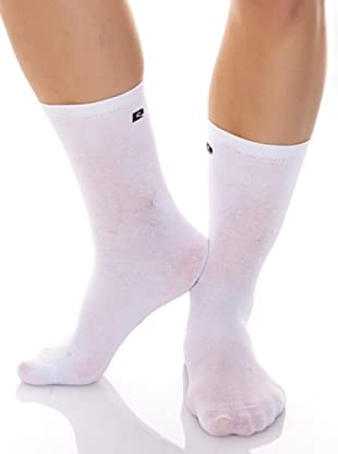 Pierre Cardin Pack 3 Pares Calcetines Logo (Blanco)
