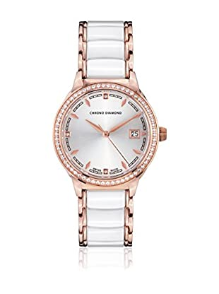 Chrono Diamond Reloj con movimiento cuarzo suizo Woman 10410A Thyrsa Blanco 34.0 mm