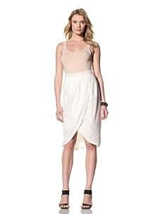 Twinkle by Wenlan Women's Magic Carpet Skirt (Circle Eyelet White)