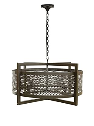 Tottenham Court Molly Chandelier, Natural Iron/Clear