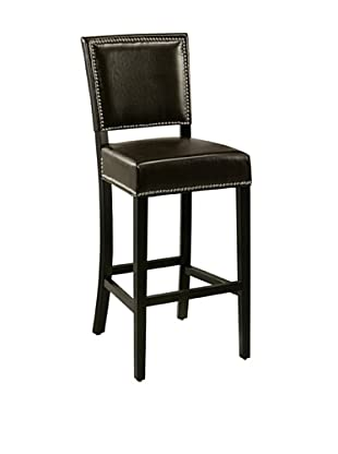 Abbyson Living Napa Bicast Leather Bar Stool, Brown