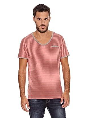 Paul Stragas Camiseta Ilan (Gris / Rojo)