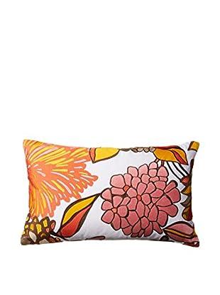 Trina Turk Peacock Punch Decorative Pillow, Orange/Black