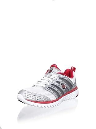 K-Swiss Women's Blade-Light Run Running Shoe (White/Silver/True Red)