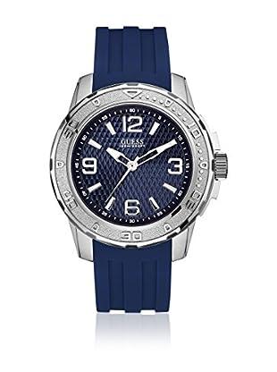 Guess Uhr mit japanischem Mechanikuhrwerk Man Meridian Silver Tone silberfarben 46 mm