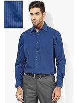Blue Checks Regular Fit Formal Shirt Peter England