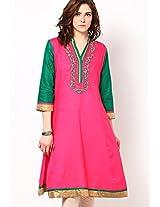 Pink Printed Kurtis Dhwani