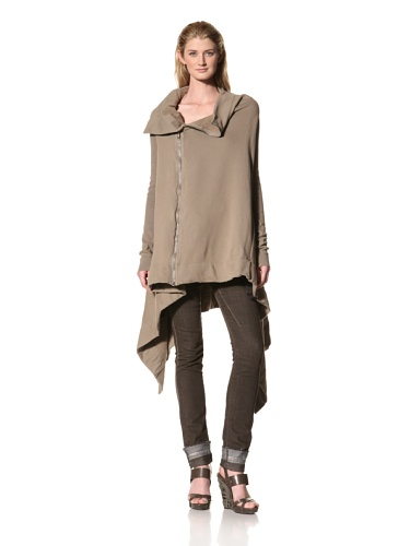 RICK OWENS Women's Asymmetrical Knit Jacket (Flesh)