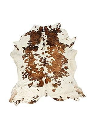 Jersey Cowhide Rug, Cream/Brown, 7' 3.5