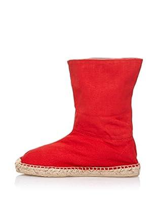 LP Botines Alpargatas Yute (Rojo)