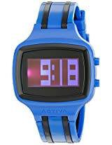 Activa By Invicta Unisex AA400-003 Black Digital Dial Dark Blue and Black Polyurethane Watch