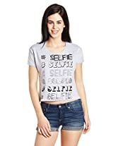 Jealous 21 Women's Printed Crop T-Shirt