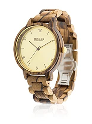 BREEF WATCHES Reloj con movimiento japonés Unisex Unisex Zebrano Classic Gold 40 mm