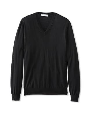 Salvatore Ferragamo Men's V-Neck Sweater (Black)