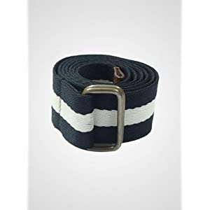 Potomac - Stripe Canvas Belt | Size:M | Colour:Black