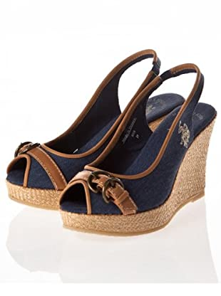 US Polo Assn Keil-Slingpumps Bridget (denim/brandy)