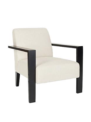 Safavieh Jenna Arm Chair, Off White/Black