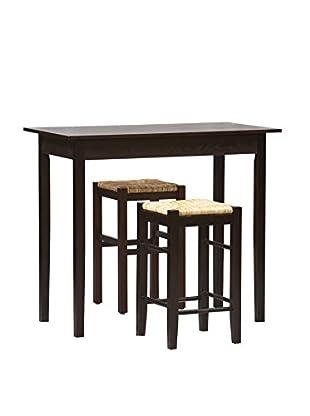 Linon Home Décor Tavern 3-Piece Counter Set, Espresso
